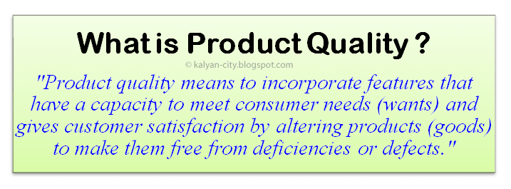 what is product quality definition meaning