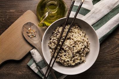 Creamy mushroom and thyme Quinoa Risotto