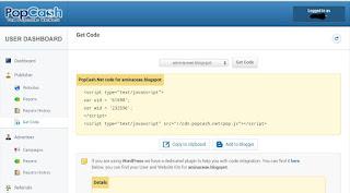Mendapatkan Code dari Popcash