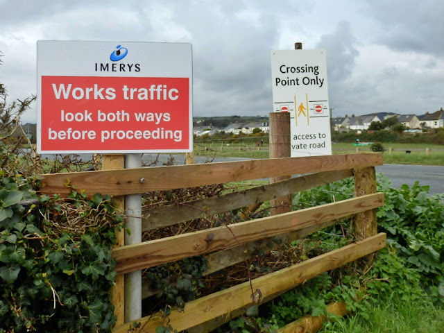 Signs at Par Sands, Cornwall
