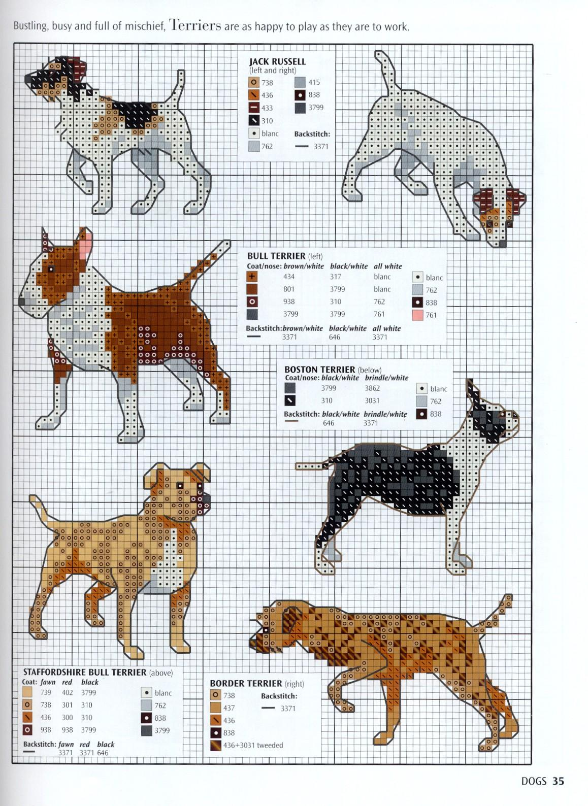 Needle Works Butterfly Dogs And Puppies Cross Stitch Patterns