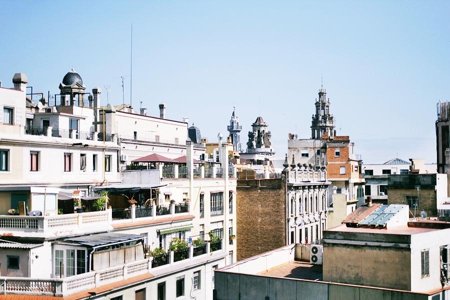 barcelona skyline mercer hotel view