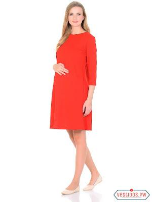 Imagenes de vestidos cortos para mujeres embarazadas
