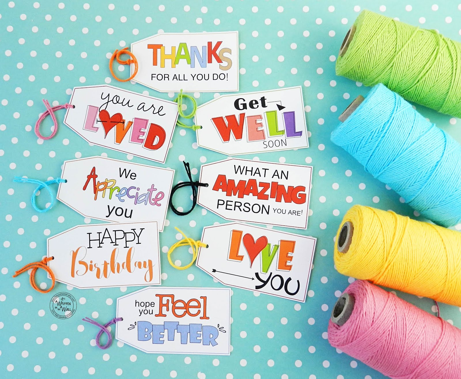 Tags for All Occasions -8-different messages