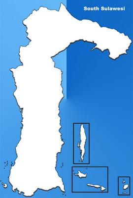 image: South Sulawesi Blank Map