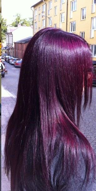 rock hair with deep purple