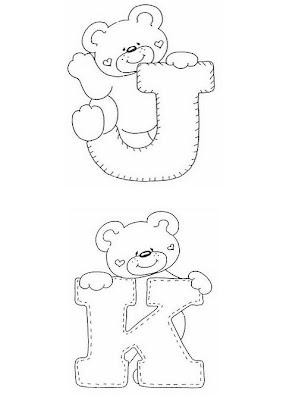 Baú da Web: Alfabeto Ilustrado Ursinhos com Molde