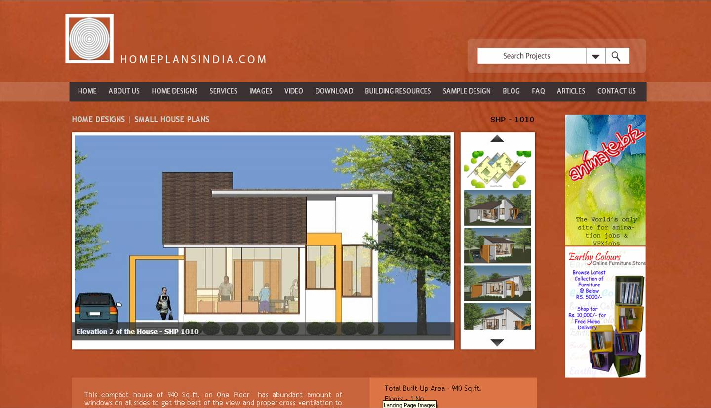 Home plans in india the smallest home in small house plan for Small house plans in india