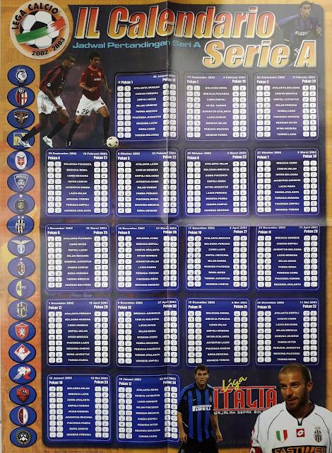 IL CALENDARIO SERIE A 2002-2003