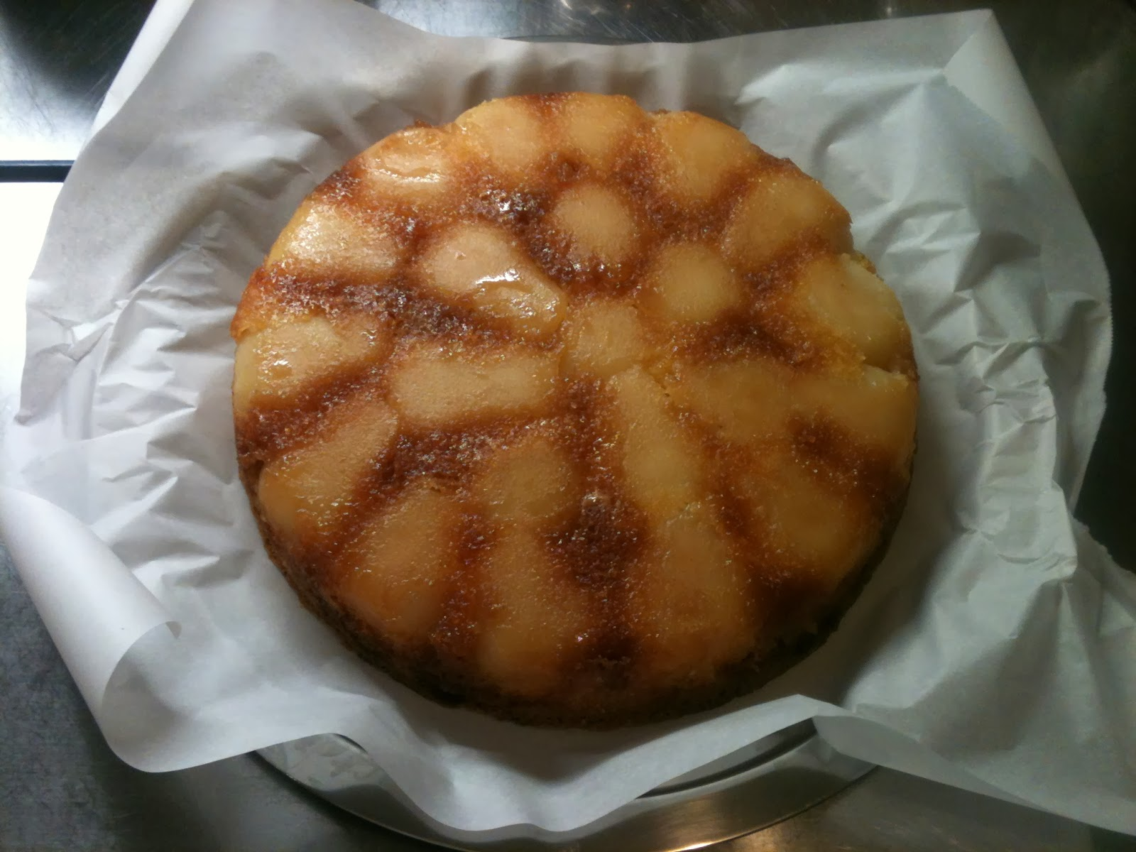 Baked Pear Inside Of Cake