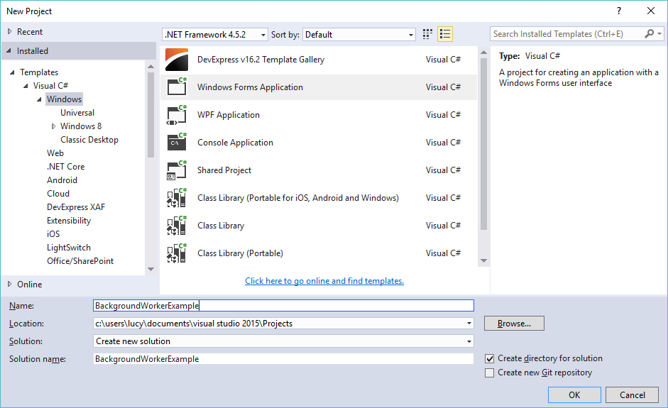 backgroundworker in c#