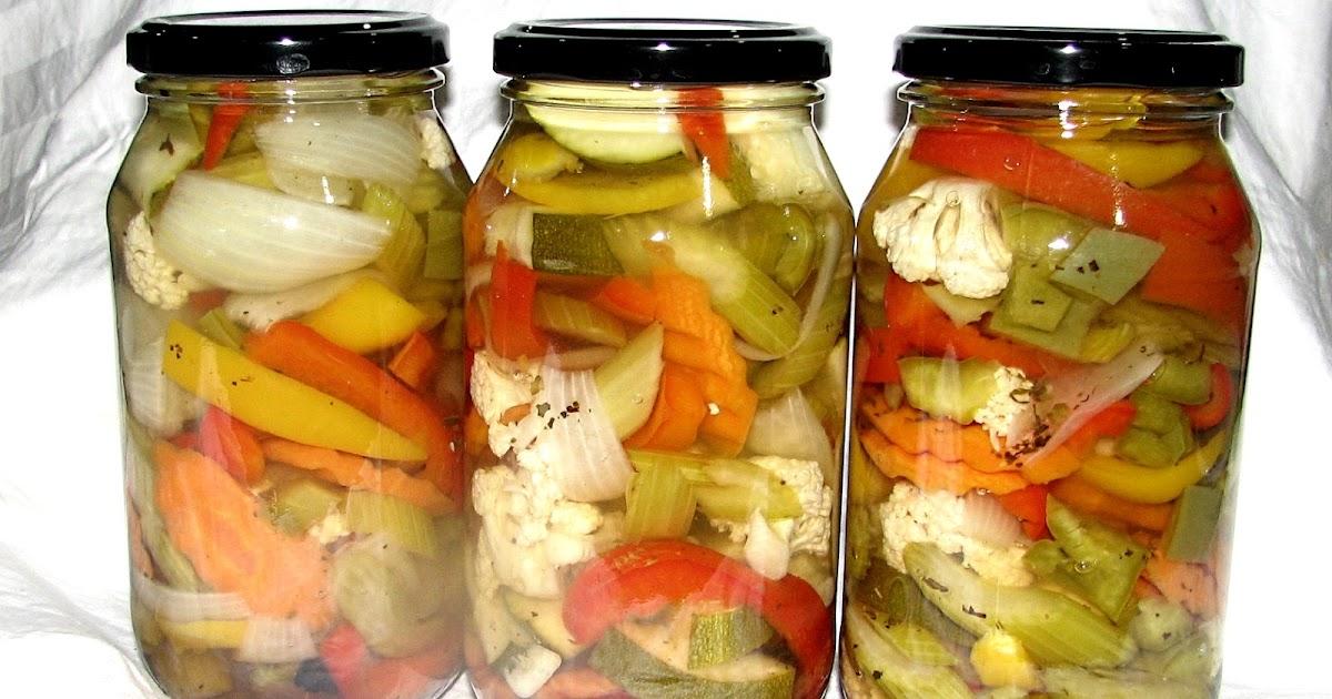Food Preserving Jardiniere Pickled Garden Vegetables