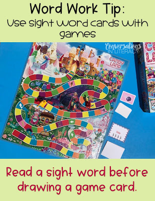 Using Candy Land in the Classroom for Word Work Activities
