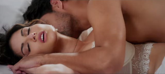 Tanuj Virwani and Sunny Leone from the movie One Night Stand.