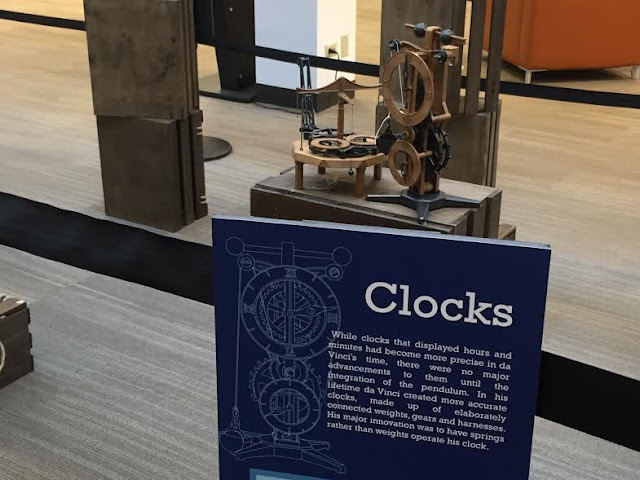 Clocks created based upon Da Vinci's sketches.