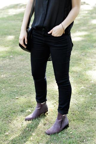 czarno-bordowa stylizacja