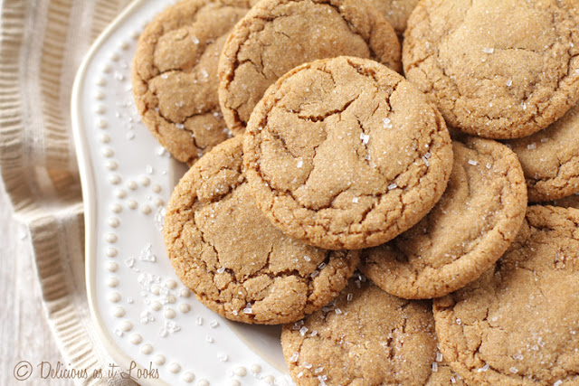 Soft & Chewy Ginger Cookies {Gluten-Free, Gum-Free, Low-FODMAP Option}  /  Delicious as it Looks