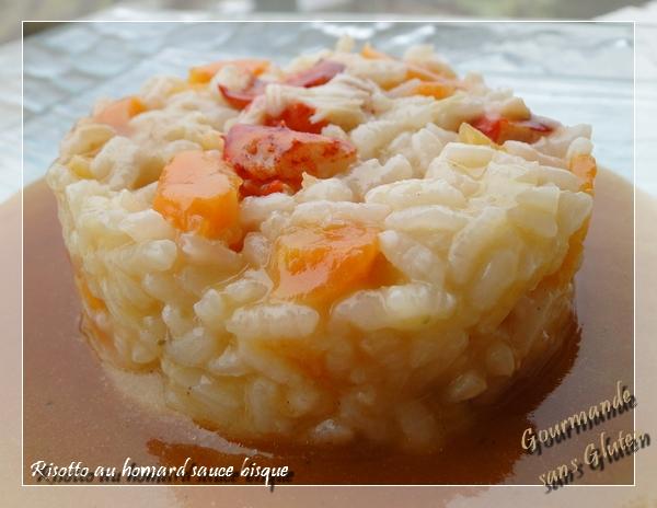 Risotto au homard sauce bisque