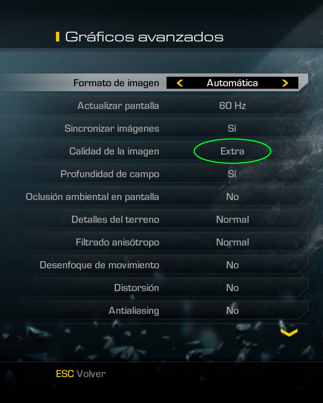 CoD Ghosts jugando a 4K (3840 x 2160) reset del PC