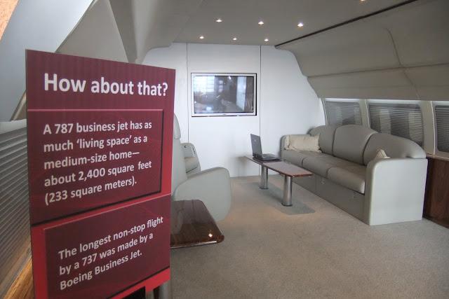 787-business-jet-mockup 787ビジネスジェット室内模型