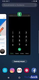 Samsung Galaxy S9+ Android 9 Pie One UI Podgląd Ostatnio Otwartych Aplikacji