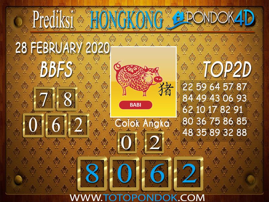 Prediksi Togel HONGKONG PONDOK4D 28 FEBRUARY 2020