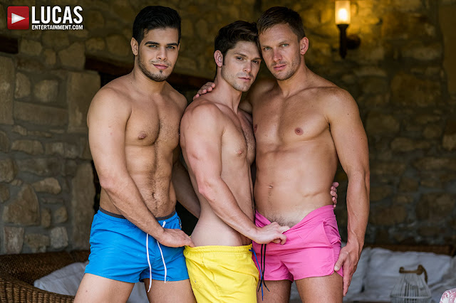 LucasEntertainment - DEVIN FRANCO TAKES DOUBLE THE COCK FROM ANDREY VIC AND RICO MARLON