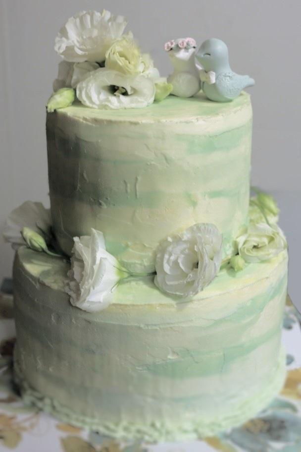 Squirrels N Sweets Water Color Wedding Cake