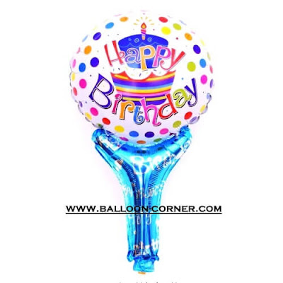 Balon Foil Raket Seri HAPPY BIRTHDAY
