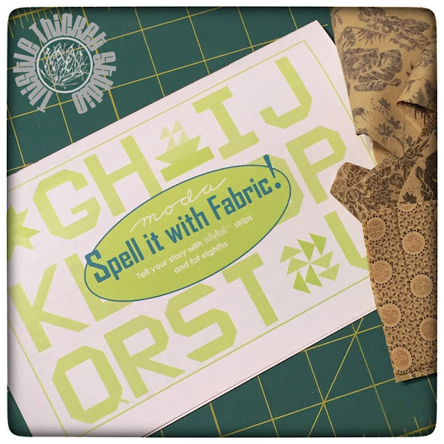 Spell It with Fabric! Booklet on Thistle Thicket Studio. www.thistlethicketstudio.com