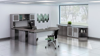 Medina Office Furniture - Executive Interior - Gray Steel Finish