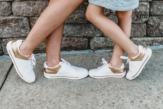 shoes of prey custom designer design shoe sneakers rose gold metallic white spring fashion outfit idea trend