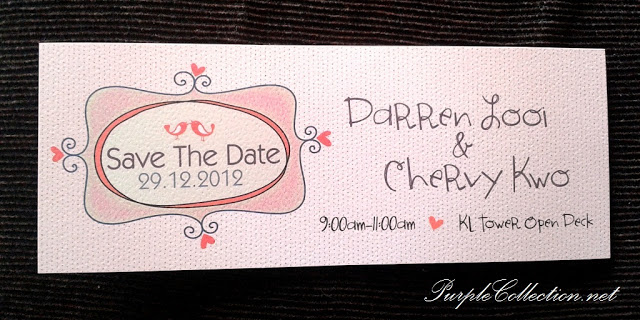 Love Birds Save The Date Card, Love, Birds, Love Birds, Save, The Date, Card, DSave The Date, Darren Looi & Chervy Kwo, Darren Looi, Chervy Kwo, KL Tower Open Deck