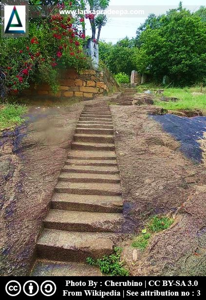 Rock cut steps, Avukana Viharaya