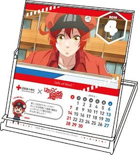 Hataraku Saibo lanza calendario para campaña de donación de sangre