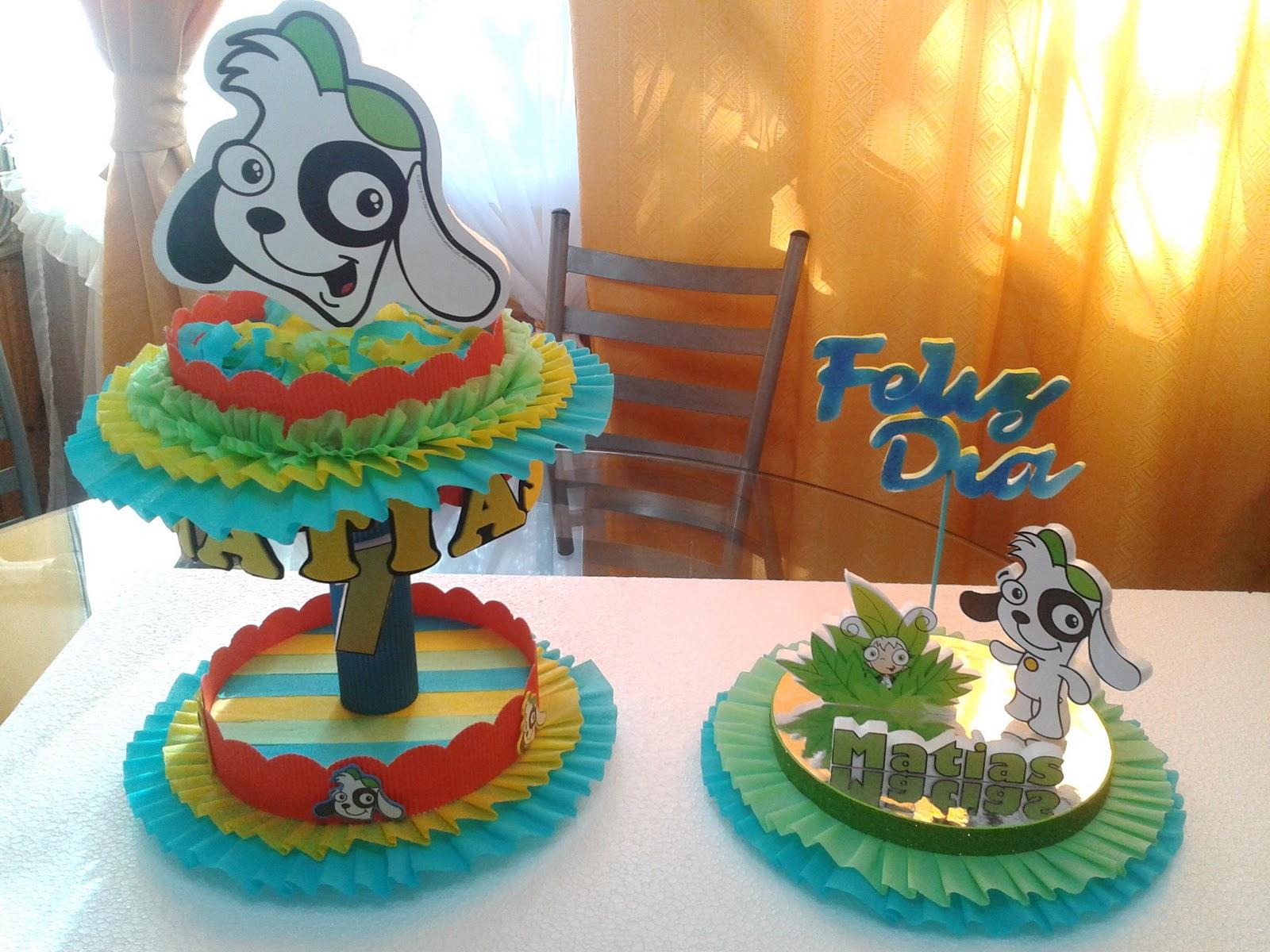 Decoraciones infantiles centro mesa y dulcero doki - Centro de mesa infantil ...