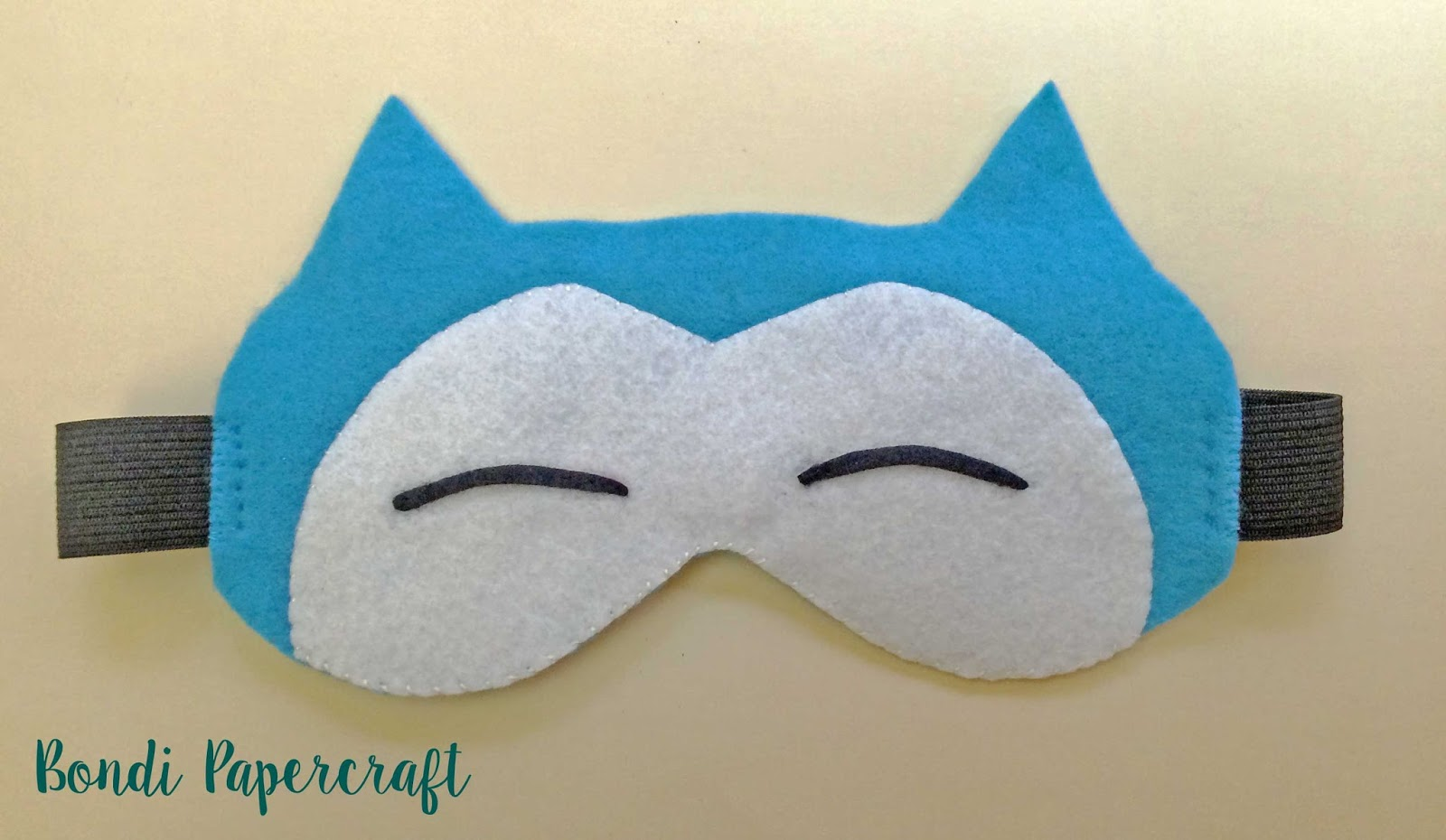 photograph relating to Pokemon Mask Printable titled Bondi Papercraft: Snorlax Eye Mask