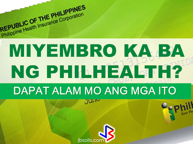 "As a Philhealth member , you need to know all these things to maximize its use and enjoy the benefits your Philhealth has to offer to you and your beneficiaries. (Photos and images from Philhealth.) Philhealth The Philippine Health Insurance Corporation or Philhealth is a Government Owned and Controlled Corporation (GOCC) founded on February 5, 1995. The main goal is to ensure the health of every Filipino thru social health insurance. Base on the Filipino concept ""bayanihan"" in which every one in the community help those in need. The Philhealth goal is to make a mechanism where every Filipinos help each other. Rich helping the poor. Young ones help the elderly. Healthy ones help the sick. Everyone will get old and be sick, its purpose is for everyone to contribute for the National health insurance Program to ensure the health of every Filipino. Philhealth Members Philhealth is for ALL. Regardless of social status: poor, rich, young , old, sick, healthy, working or jobless, every Filipino must be a member. Here are the membership categories of Philhealth: 1. Formal Economy Members: employees, business owners, household workers and family drivers. 2.Informal Economy Members (or voluntary/individually paying): includes Overseas Filipino Workers (OFWs), self earning individuals, naturalized Filipinos and foreigners living in the Philippines. 3. Sponsored Members: members who's contributions are paid by a sponsor like the local government, government agency or private individual or agency. It includes low earning individuals that are not considered as indigents like barangay health workers, nutrition scholars, etc. Orphans,abandoned kids, out-of-school-youth, street children, Person with Dissabilities (PWDs), abused and pregnant women under the custody of the DSWD is also registered here. 4. Indigent Members: poor families selected by the DSWD using the National Household Targeting System for Poverty Reduction (NHTS-PR or "" Listahanan). It determines the families to be included in government programs to eliminate poverty. 5. Lifetime Members: members with ages 60 and above and retired employees that contributed not less than 120 months Philhealth contributions. Senior Citizens- Under the Expanded Senior Citizen Act (RA 10645), all Filipinos with ages 60 and above is already covered by Philhealth. Registration: Registration is easy under any membership categories. Go to any Philhealth office near you and submit the correctly filled-up Philhealth Member Registration Form (PMRF). No need to submit any supporting documents unless it is needed for verification. Reminder: To avoid any penalty under the law, make sure that all the information provided in your PMRF are absolutely true. Member's Data Record and Philhealth ID When you are already registered to Philhealth, the new member will receive: 1. Philhealth Identification Number (PIN). The PIN is the permanent number of every members. 2. Philhealth ID that indicates the following: Philhealth Identification Number (PIN) Member's name. Members signature. Membership validity date for sponsored/indigent members. 3. Member Data Record (MDR) MDR indicates the member's name, address, legal dependents and the date of their insurance with Philhealth (for sponsored/indigents/OFW members). Keep your Philhealth ID and MDR safely. You will need it to use your benefits and for other transactions with Philhealth. In the meantime, only the MDR is being issued for indigent, sponsored members and Senior Citizens. This document will be enough for them to enjoy their benefits. For Indigent/Sponsored members: You can get in touch with the Local Government Unit to determine the members belonging to the Indigent/Sponsored Program in the area. Philhealth ensures that every LGUs has the complete list of the members included in the program. Qualified Dependents The whole Family is covered by Philhealth. Philhealth protects the whole Family. The member and family members can use Philhealth benefits.. The qualified dependents are as follows: Legal spouse that is not a member of Philhealth. Children 20 years old and below, single and jobless (including step children, adopted, illegitimate and legitimated/recognized children. Parents 60 years old and above and not a Philhealth member. Foster Child who went through DSWD Process according to Foster Care Act of 2012 or RA10165 Children or parents with with permanent disabilities. Below are the list of contributions scheduled by Philhealth for specific members. You can pay your Philhealth contributions at any Philhealth office or any accredited collecting agents nationwide. What are the benefits? Every member must know the benefits they can get by being a Philhealth member. Members and qualified dependents has benefits for medical expenses for every sickness or operation. Members and legal dependents can get equal benefits. Every year, there is allocated 45 days hospitalization allowance for the member and 45 days to be divided to all qualified dependents. Hospitalization days in excess of 45 days will not be covered by Philhealth. This benefit can be used by the member and qualified dependents provided that: The member has updated contributions (except Lifetime and Senior Citizen Members) or valid Philhealth coverage( for Sponsored, Indigent, and OFWs). Go to a Philhealth-accredited hospitals or clinics. The allocated 45 in a year is not yet consumed for the member and qualified dependents except for the other Philhealth benefits such as hemodialysis. All Case Rates The benefits will be paid by Philhealth in terms of Case Rates whereas every illness or operation has price allotment to be divided to the hospital and the doctor. This way , the member can already determine how much will be covered by Philhealth before hospitalization. Below are the equivalent value of benefits for some selected sickness and operations under the All Case Rates (ACR) continually widened by Philhealth: In Philhealth's NO BALANCE BILLING, there will be no additional payments for hospitalization in public and selected private hospitals. Good news! For sponsored, household workers and indigent members and dependents, if they are confined in a public hospitals and other facilities such as dialysis centers, lying in clinic, or ambulatory surgical clinics, there will be no fees to pay. Under the NO BALANCE BILLING, Philhealth will shoulder all expenses for the doctor and hospitalization in any Philhealth accredited hospitals. Reminder: If confined in a private hospital, the member should pay the cost that exceeds in the aforementioned case rates. There will also be an additional cost if they will choose rooms/wards and/or doctor in government hospitals. Below are the list of the outpatient benefits available at any Philhealth-accredited hospitals/clinics. Z BENEFITS Benefits provided for sickness that needs long term hospitalization. Below are the benefits included in Z Benefits. HOW TO AVAIL THE PHILHEALTH BENEFITS? To use Philhealth benefits: Look for My Philhealth Portal in the hospital and show any valid government ID. Submit the properly filled-up Philhealth Claim Form 1 together with the supporting documents that may be required in the hospital, when needed. OFWs or their qualified dependents confined overseas can also avail of the Philhealth benefits through direct filing. You just need to submit the following in any Philhealth office near you within 180 days after being discharged to avail of the benefits: Copy of Medical Certificate stating the final diagnosis, confinement period and services rendered. Properly filled-up Philhealth Claim Form 1 Copy of the official receipt or detailed statement of Account Updated Members Data Record or any alternative documents to prove identity/photocopy of latest proof of payment. Below is an example of Philhealth Claim Form 1 For any questions, you can visit any Philhealth office near you. RECOMMENDED: DOLE Sec. Bello in Kuwait OFW EXECUTED IN KUWAIT PRESIDENT DUTERTE VISITS ADMIRAL TRIBUTS DTI ACCREDITED CARGO FORWARDERS FOR 2017 NO MORE PHYSICAL INSPECTION FOR BALIKBAYAN BOXES BOC DELISTED CARGO FORWARDERS AND BROKERS BALIKBAYAN BOXES SHOULD BE PROTECTED DOLE ENCOURAGES OFW TEACHERS TO TEACH IN THE PHILIPPINES ©2017 THOUGHTSKOTO"