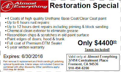 Coupon Vehicle Restoration June 2016