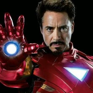 Robert Downey Jr as Iron Man 2 triangle armor