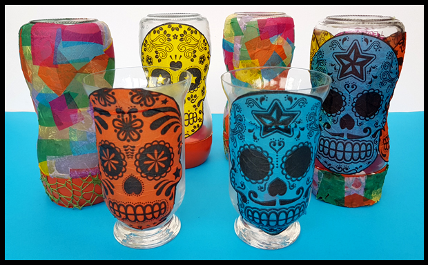 Day of the Dead lanterns - easy kids craft