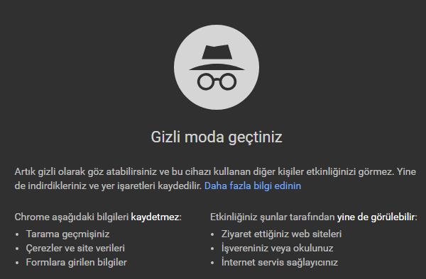 Chrome'da Gizli Pencere (Gizli Sekme) Açma Nasıl Yapılır?