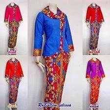 Baju Seragam Batik Model Setelan Rok Blus Terbaru 2015