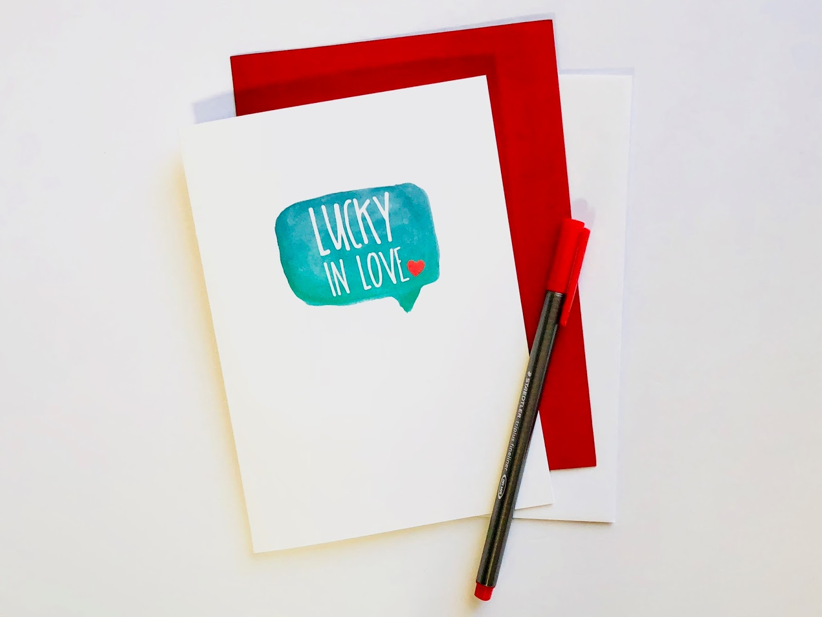 #Lucky In Love #lucky #love #card #Valentine's Day Card #free #download #printable