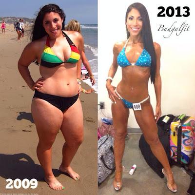 Abnehmbilder Strandfigur nach 4 Jahren - Mollige Frau wird dünn