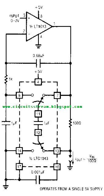 Simple Voltage controlled current source with grounded