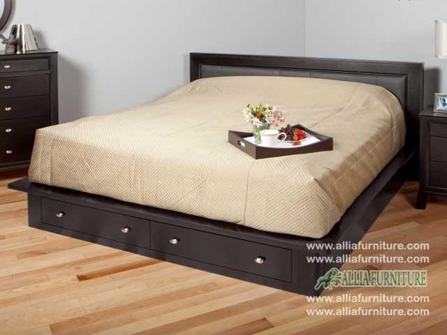 tempat tidur laci minimalis model monza