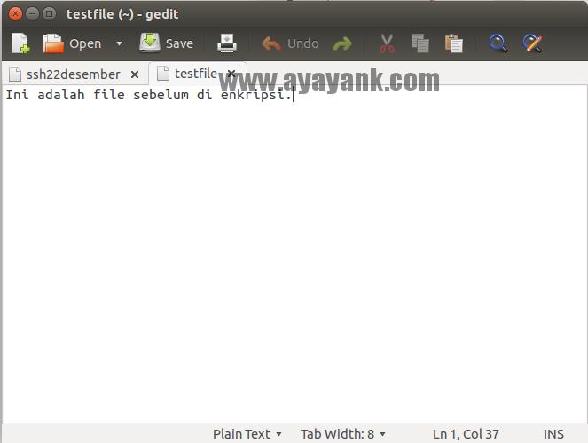 Mengenkripsi file teks dengan mcrypt php