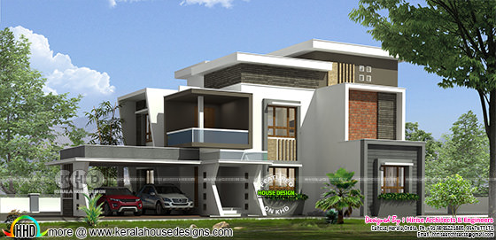 Ultra modern style 2950 sq-ft 5 BHK home