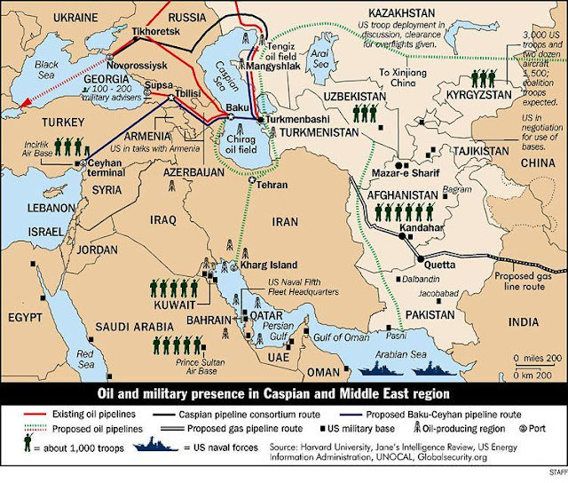 The Middle East and Iran: One more view of US military bases ...